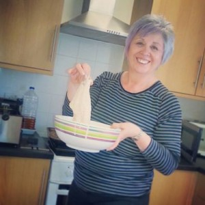 Janet ready to cook up a storm at our head office