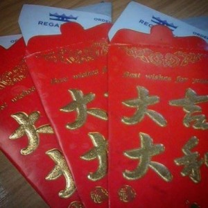 chinese red envelope new year fish