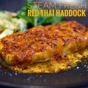 Steam Fresh Haddock with a Red Thai Sauce