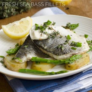 Sea Bass Fillet & Salmon Fillet boned 2Kg Pack