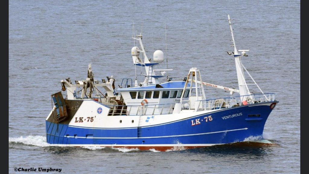 A picture of Lerwick vessel the Venturous which supplies much of our fresh fish